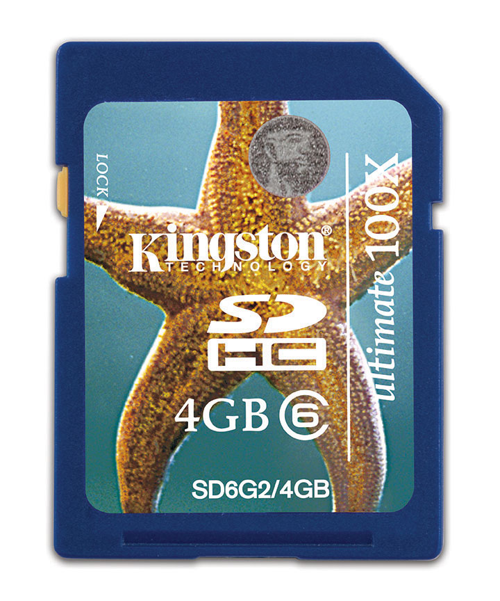 Kingston Technology 4GB SDHC Class 6 Ultimate Flash Card G2 4096 MB Secure Digital High-Capacity (SDHC) 15 MB/s 2.5 g 32 mm 2.1 mm